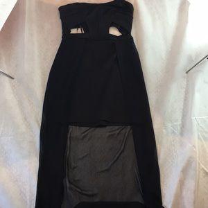Silence + Noise Strapless Cutout Dress Maxi Mini